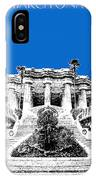 Barcelona Skyline Park Guell - Blue IPhone Case