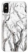 Bare Branches Print Option 2 IPhone Case