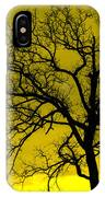 Bare Tree Against Yellow Background E88 IPhone Case