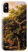 Barend Cornelis Koekkoek Bosgezicht 1848 IPhone Case