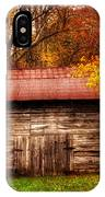 Barn In Fall IPhone Case
