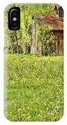 Barn In Wild Turnips IPhone Case
