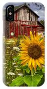 Barn Meadow Flowers IPhone Case
