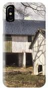 Barn Near Utica Mills Covered Bridge IPhone Case