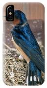 Barn Swallow At Nest IPhone Case