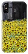 Barns And Sunflowers IPhone Case