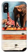 Barnum And Baileys Fabulous Road Trip Vacation Across The Usa Circa 2013 5d22705 With Text IPhone Case
