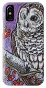 Barred Owl And Berries IPhone Case