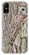 Barred Owl Camouflage IPhone Case