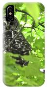 Barred Owl In Hiding IPhone Case