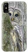 Barred Owl Peek A Boo IPhone Case