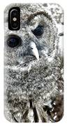 Barred Owl Photo Art IPhone Case