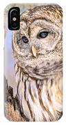 Barred Owl Watch IPhone Case