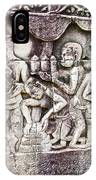 Bas-reliefs Of Khmer Daily Activities In The Bayon In Angkor Thom-cambodia  IPhone Case