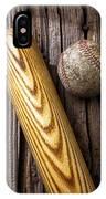 Baseball Bat And Ball IPhone Case