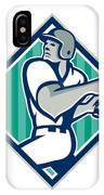 Baseball Hitter Batting Diamond Retro IPhone Case