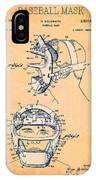 Baseball Mask Patent Orange Us2627602 A IPhone Case