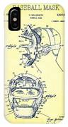 Baseball Mask Patent Yellow Us2627602 A IPhone Case