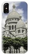 Basilica Of The Sacred Heart Paris France IPhone Case