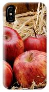 Basket Of Delicious Red Apples IPhone Case