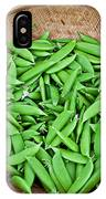Basket Of Organic Fresh Sugar Snap Peas Art Prints IPhone Case
