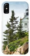 Bass Harbor Light Station Overlooking The Bay IPhone Case