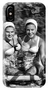 Bathing Beauties Black And White IPhone Case