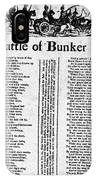 Battle Of Bunker Hill IPhone Case