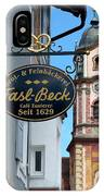 Bavarian Bakery Sign  IPhone Case