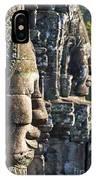 Bayon Faces - Angkor Wat - Cambodia IPhone Case