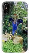 Bayou Crow Scarecrow At Bellingrath Gardens IPhone Case