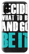Be It Poster Grey IPhone X Case