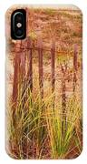 Beach Dune Fence At Cape May Nj IPhone Case