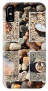 Beach Shells And Rocks Collage IPhone Case