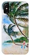 Beach With Palm Trees IPhone Case