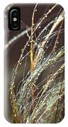 Beads Of Water On Sea Grass IPhone Case