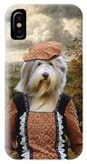 Bearded Collie Art Canvas Print IPhone Case