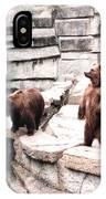 Bears Feeding Time At The Zoo II IPhone Case