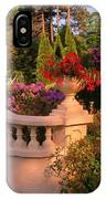 Beautiful Balustrade Fence In Halifax Public Gardens IPhone Case