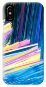 Beautiful Benzoic Acid  Microcrystals Abstract Art IPhone Case