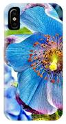 Beautiful Blue Orchid IPhone Case