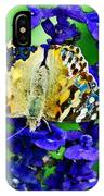 Beautiful Butterfly On A Flower IPhone Case