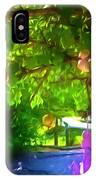 Beautiful Colored Glass Ball Hanging On Tree 1 IPhone Case