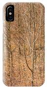 Beautiful Fine Structure Of Trees Brown And Orange IPhone Case