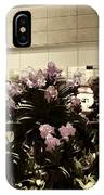 Beautiful Flowers Inside The Changi Airport In Singapore IPhone Case