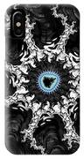 Beautiful Fractal Artwork Black White And Blue IPhone Case