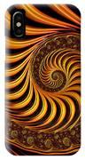 Beautiful Golden Fractal Spiral Artwork  IPhone Case