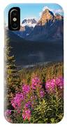 Rocky Mountains Sunset IPhone Case