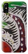 Beautiful Palm Tree With Keg On The Bush.   IPhone Case