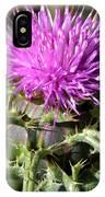 Beautiful Thistle IPhone Case